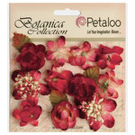 Petaloo - Botanica Collection - Floral Embellishments - Minis - Red