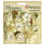 Petaloo - Botanica Collection - Floral Embellishments - Minis - White