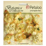 Petaloo - Botanica Collection - Floral Embellishments - Minis - Soft Yellow