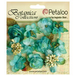 Petaloo - Botanica Collection - Floral Embellishments - Minis - Teal