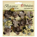 Petaloo - Botanica Collection - Floral Embellishments - Minis - Charcoal Grey