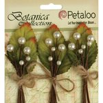 Petaloo - Botanica Collection - Floral Embellishments - Spring Berry Clusters - All White