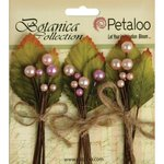 Petaloo - Botanica Collection - Floral Embellishments - Spring Berry Clusters - Pink