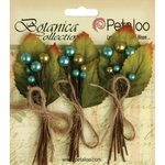 Petaloo - Botanica Collection - Floral Embellishments - Spring Berry Clusters - Teal