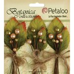 Petaloo - Botanica Collection - Floral Embellishments - Spring Berry Clusters - Peach Green