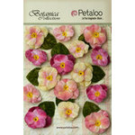 Petaloo - Botanica Collection - Floral Embellishments - Velvet Pansies - Mauve