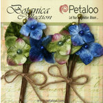 Petaloo - Botanica Collection - Floral Embellishments - Velvet Hydrangea - Royal Blue