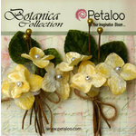 Petaloo - Botanica Collection - Floral Embellishments - Velvet Hydrangea - Ivory