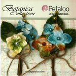 Petaloo - Botanica Collection - Floral Embellishments - Velvet Hydrangea - Teal