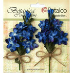 Petaloo - Botanica Collection - Floral Embellishments - Velvet Lilacs - Royal Blue