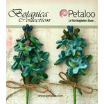 Petaloo - Botanica Collection - Floral Embellishments - Velvet Lilacs - Teal