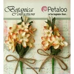 Petaloo - Botanica Collection - Floral Embellishments - Velvet Lilacs - Cream