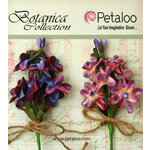 Petaloo - Botanica Collection - Floral Embellishments - Velvet Lilacs - Lavender and Purple
