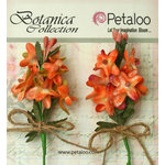Petaloo - Botanica Collection - Floral Embellishments - Velvet Lilacs - Apricot