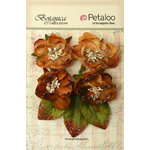 Petaloo - Botanica Collection - Floral Embellishments - Sugared Blooms - Mocha