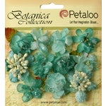 Petaloo - Botanica Collection - Floral Embellishments - Sugared Minis - Teal