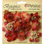 Petaloo - Botanica Collection - Floral Embellishments - Sugared Minis - Burgundy