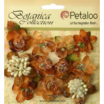 Petaloo - Botanica Collection - Floral Embellishments - Sugared Minis - Mocha