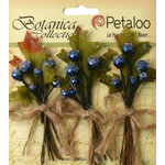Petaloo - Botanica Collection - Floral Embellishments - Sugared Berry Clusters - Royal Blue