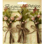 Petaloo - Botanica Collection - Floral Embellishments - Sugared Berry Clusters - Peach