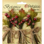 Petaloo - Botanica Collection - Floral Embellishments - Sugared Berry Clusters - Red