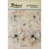 Petaloo - Textured Elements Collection - Floral Embellishments - Jeweled Flowers - White