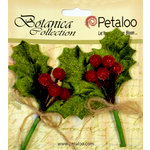 Petaloo - Botanica Collection - Floral Embellishments - Beaded Berry Picks - Red