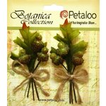 Petaloo - Botanica Collection - Floral Embellishments - Beaded Acorn Picks - Natural