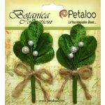 Petaloo - Botanica Collection - Christmas - Floral Embellishments - Mistletoe Picks - White