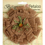 Petaloo - Textured Elements Collection - Floral Embellishments - Burlap Blossom - Large - Natural