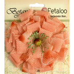 Petaloo - Textured Elements Collection - Floral Embellishments - Burlap Blossom - Large - Apricot