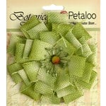 Petaloo - Textured Elements Collection - Floral Embellishments - Burlap Blossom - Large - Pistachio