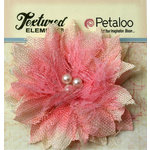 Petaloo - Burlap and Canvas Collection - Floral Embellishments - Burlap Birdsnest Flower - Pink