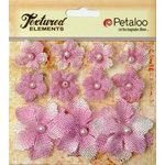 Petaloo - Burlap and Canvas Collection - Floral Embellishments - Burlap Flowers - Lavender