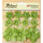 Petaloo - Burlap and Canvas Collection - Floral Embellishments - Burlap Flowers - Pistachio