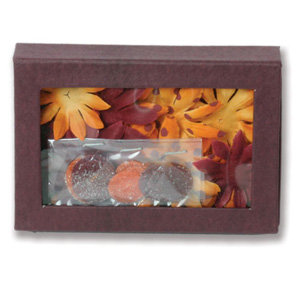 Petaloo - Retro Rage Collection - Flowers - Daisy Box Blend - Large - Retro Orange and Burgandy