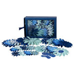 Petaloo - Blue Crush Collection - Flowers - Daisy Box Blend - Large - Light Blue and Dark Blue