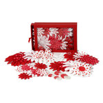 Petaloo - Candy Cane Collection - Flowers - Daisy Box Blend - Large - Candy Cane
