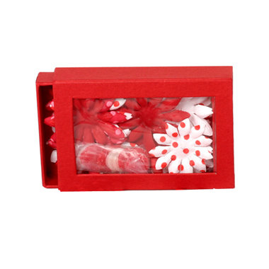 Petaloo - Candy Cane Collection - Flowers - Daisy Box Blend - Small - Candy Cane
