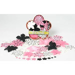 Petaloo - Pink Poodle Collection - Flowers - Dahlia Box Blend - Large - Pink and Black, CLEARANCE