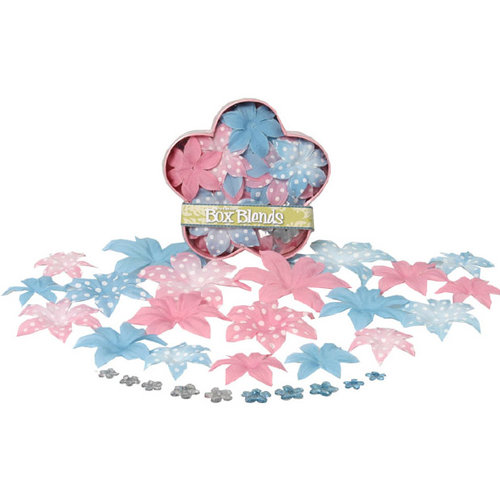 Petaloo - It's Magic Princess Disney Collection - Flowers - Dahlia Box Blend - Large - Pink and Blue, CLEARANCE