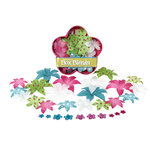 Petaloo - Flora Doodles - Dahlia Box Blend - Small - Teal Fuschia and White, CLEARANCE