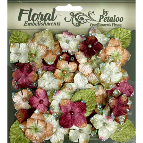 Petaloo - Chantilly Collection - Velvet Hydrangeas - Maroon