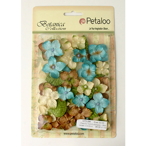 Petaloo - Chantilly Collection - Velvet Hydrangeas - Blue