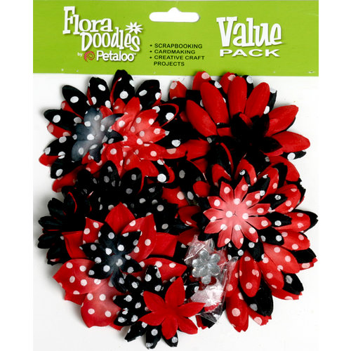 Petaloo - Flora Doodles Collection - Layering Fabric Flowers - It's Magic
