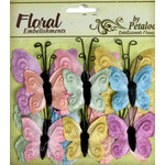 Petaloo - Chantilly Collection - Velvet Butterflies - Pastels