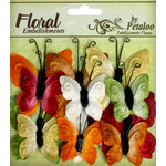 Petaloo - Chantilly Collection - Velvet Butterflies - Earthtones
