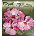 Petaloo - Chantilly Collection - Velvet Wild Roses - Mauve