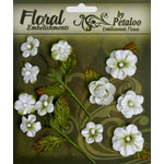 Petaloo - Chantilly Collection - Velvet Mini Blossoms - White