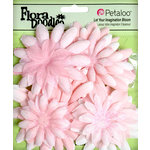Petaloo - Flora Doodles Collection - Layering Fabric and Glitter Flowers - Daisies - Large - Soft Pink